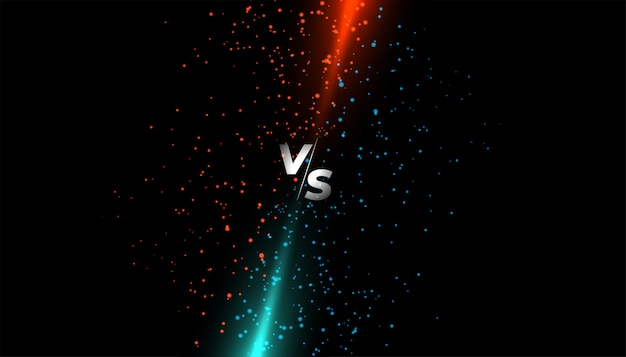 Red and blue light sparkle versus vs screen Free Vector