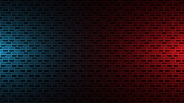 Red and blue wall background Premium Vector