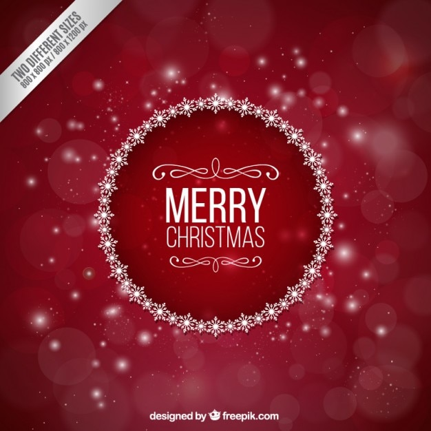 Red blurred christmas background Free Vector