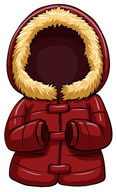 Red body warmer Free Vector