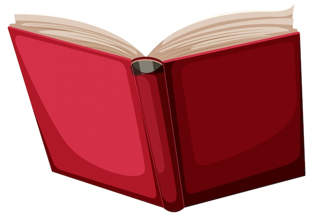 A red book on white background Free Vector