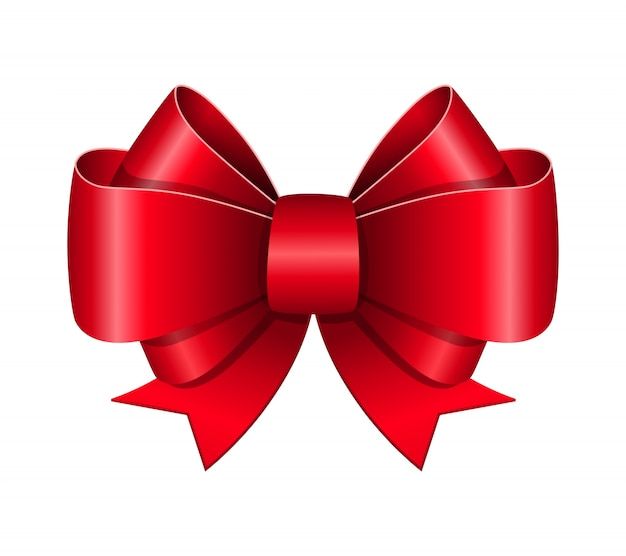 Red bow symbol Free Vector