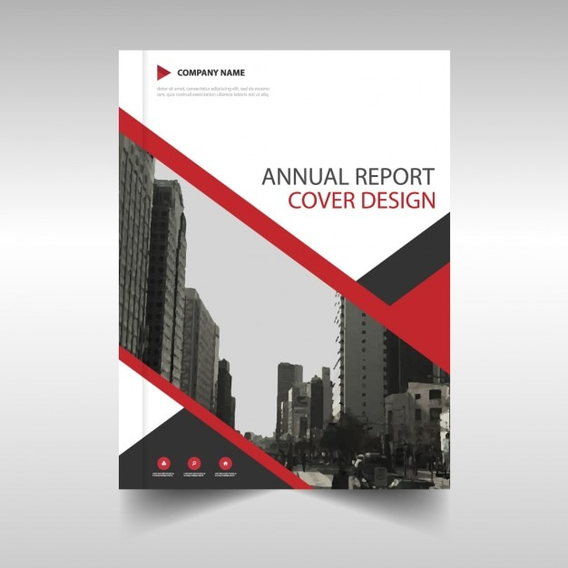 Red Brochure Annual Report Vector Free Download