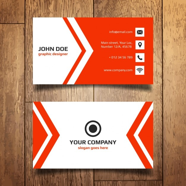 Red business card template vector free download red business card template free vector wajeb Images