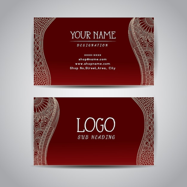 Red business card template vector free download red business card template free vector fbccfo Choice Image
