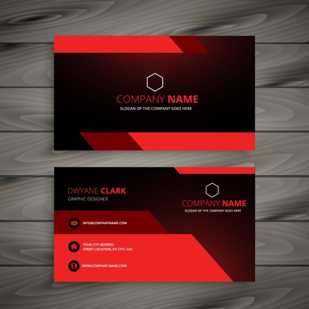 Red business card Vector | Free Download