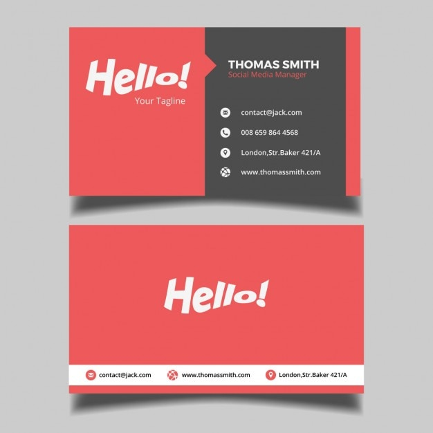 Red business card vector free download red business card free vector colourmoves Images