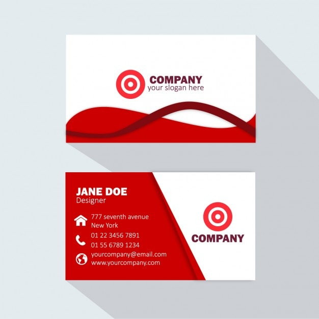 Red business card vector free download red business card free vector reheart Images
