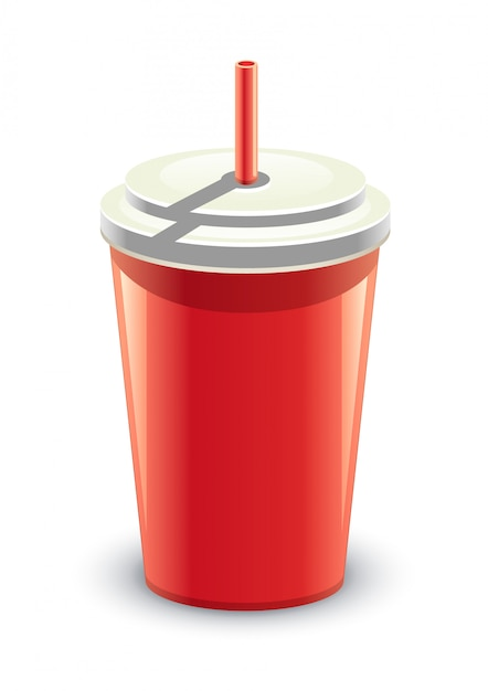 Red can of drink Premium Vector