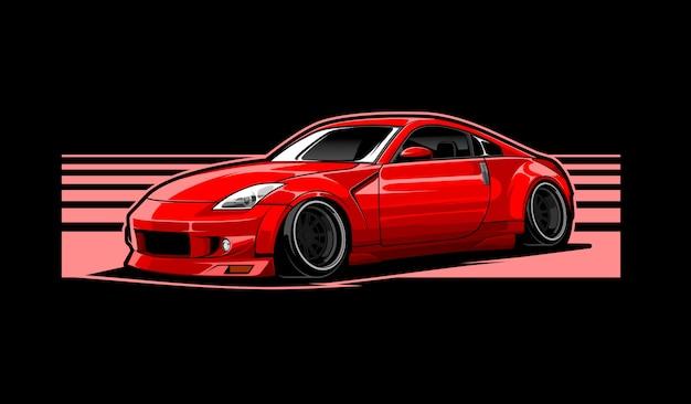 Red car illustration Premium Vector