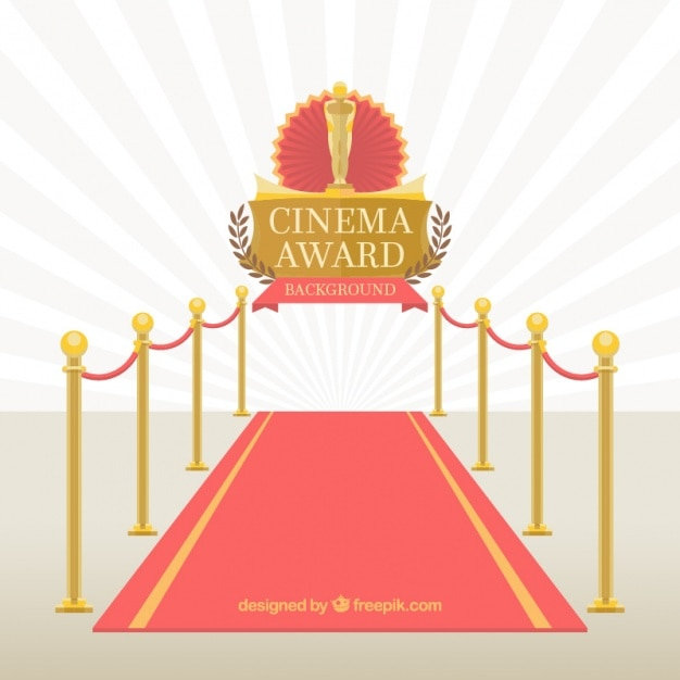 Red carpet of cinema event Free Vector