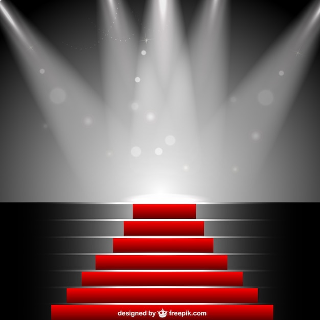 Red Carpet Under Sportlight Vector Free Download