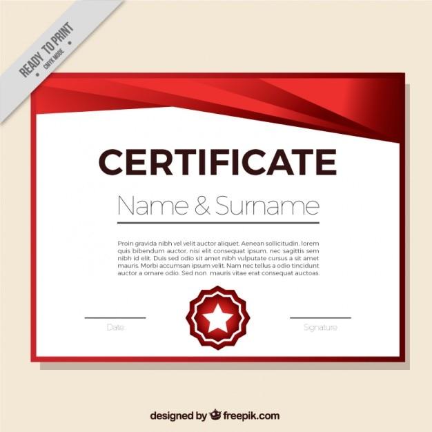 Red certificate design Vector | Free Download