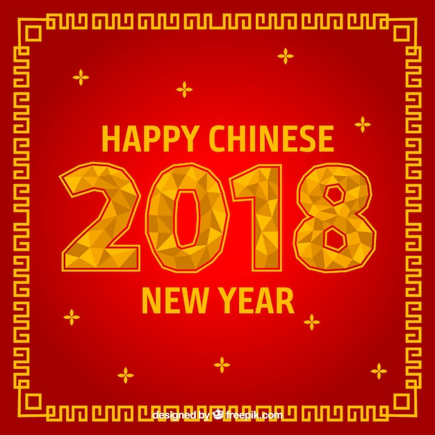 Red chinese new year background design