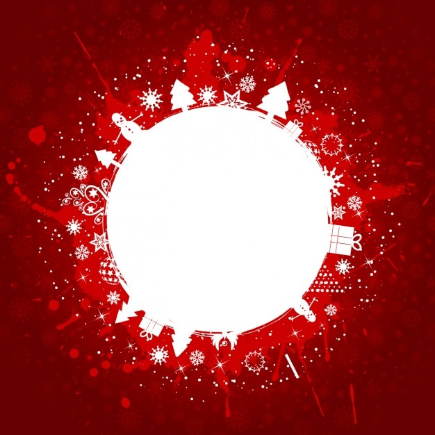 red christmas background with splashes free vector - Red Christmas Background