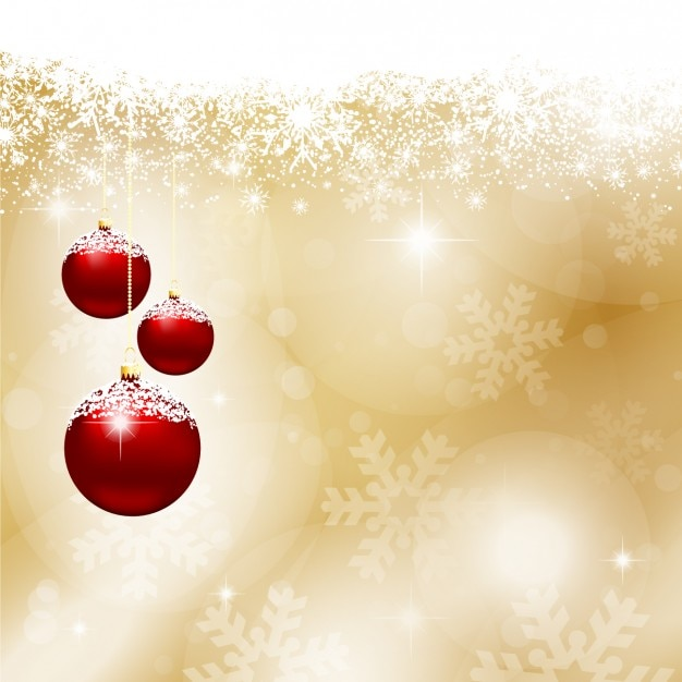 red christmas balls gold background 1048 484