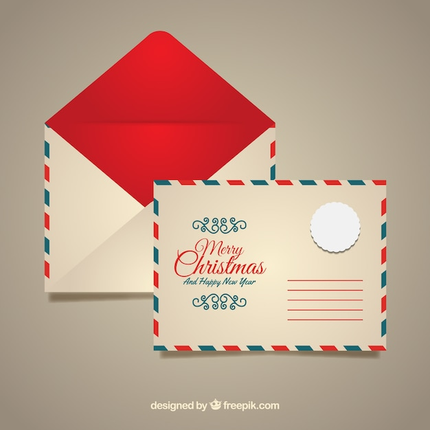 red christmas envelope template vector free download