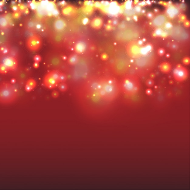 Red Christmas Lights Background Vector Premium Download