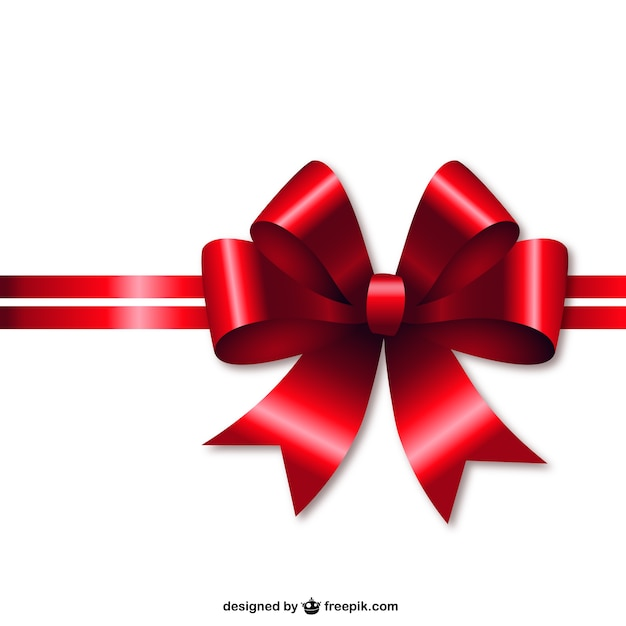 Red Christmas ribbon Vector | Free Download