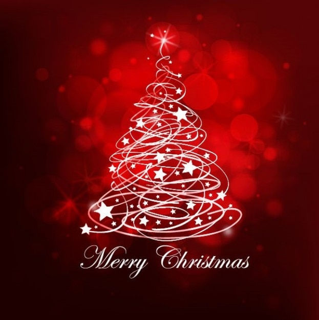 red christmas tree background - photo #3