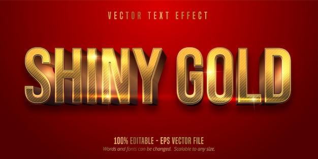 Красный цвет и блестящий золотой стиль редактируемый текстовый эффект Premium векторы