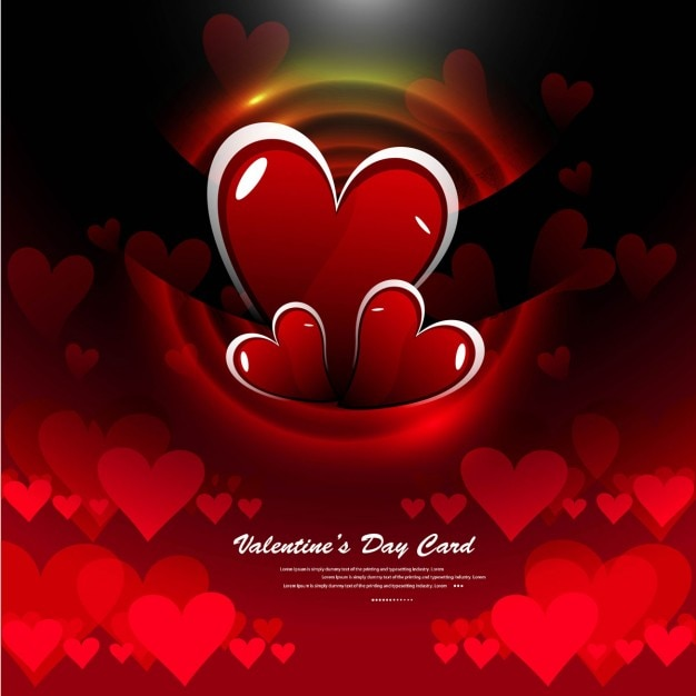 Red color shiny love background