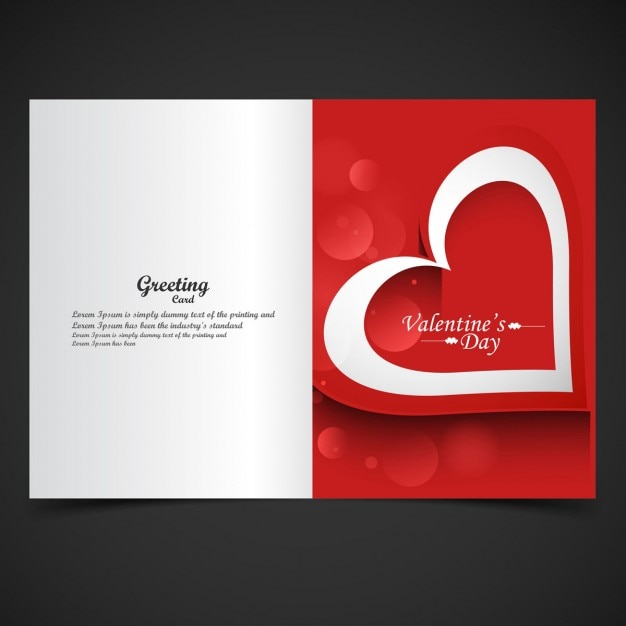 Red color valentine greeting Free Vector