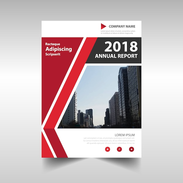 Red Corporate Annual Report Design Vector Free Download