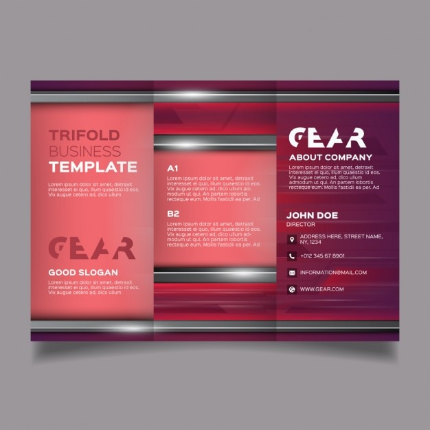Red corporate modern brochure template