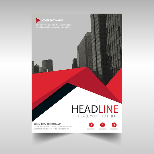 Medical Book Cover Template : Red creative annual report book cover template with