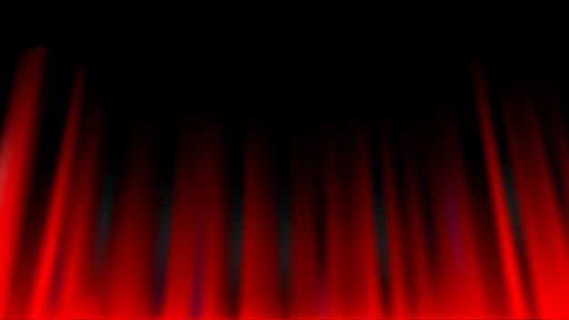 Red curtain abstract background, theatrical drapes Premium Vector
