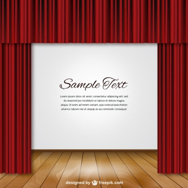 Red curtain and stage vector free download for Theatre curtains psd