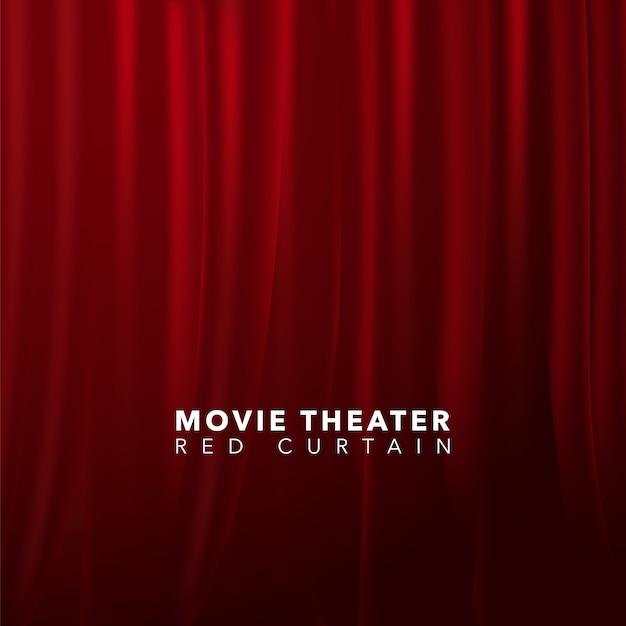 Red Curtain Background Premium Vector