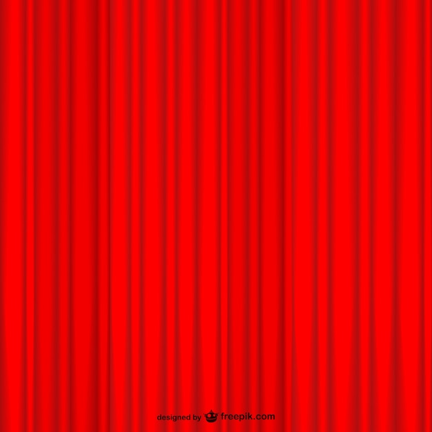 Red curtain background Free Vector