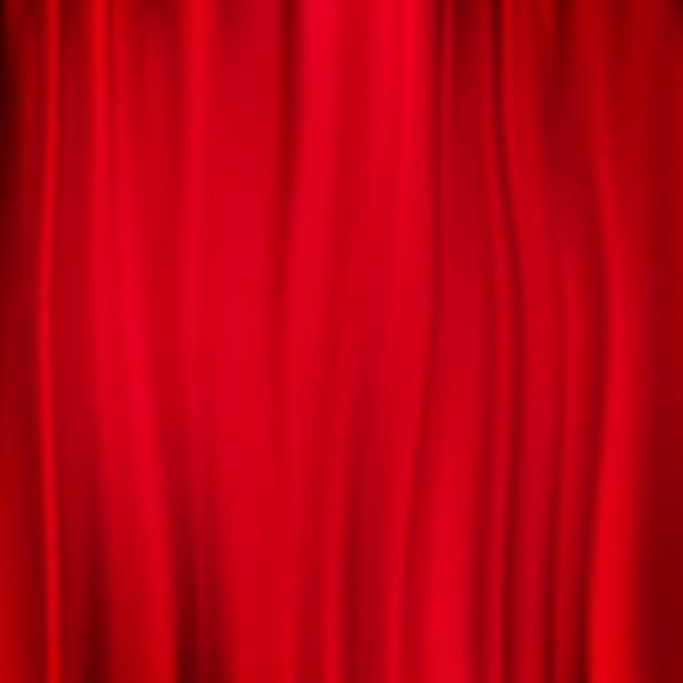 赤いカーテンの背景。 Premiumベクター