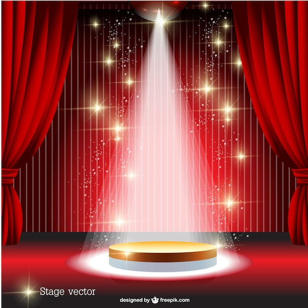 Stage curtains vectors photos and psd files free download for Theatre curtains psd