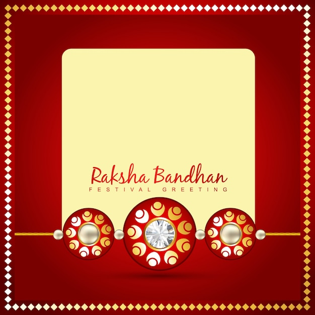Red design with space for text for raksha bandhan Premium Vector