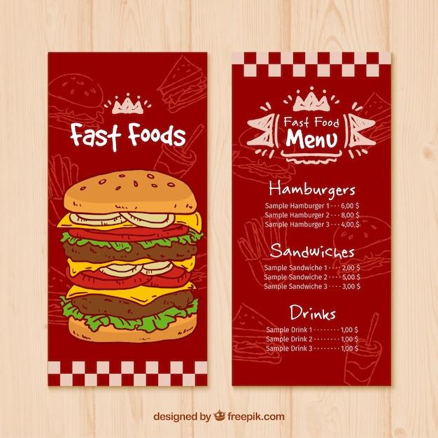 fast food restaurant menu templates