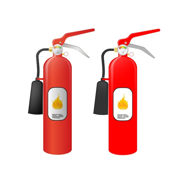 赤い消火器のイラスト Premiumベクター