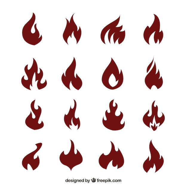 Red flames Free Vector