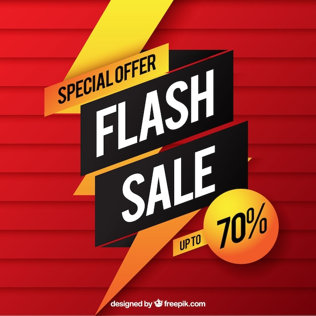 Red flash sale background in gradient style Free Vector