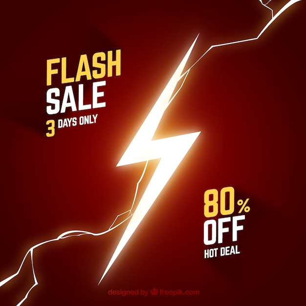 Red flash sale background Free Vector