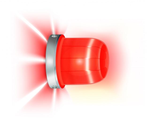 Red flashing light Premium Vector