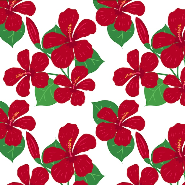 red flower pattern background vector free download rh freepik com flower pattern vector free download flower pattern vector freepik