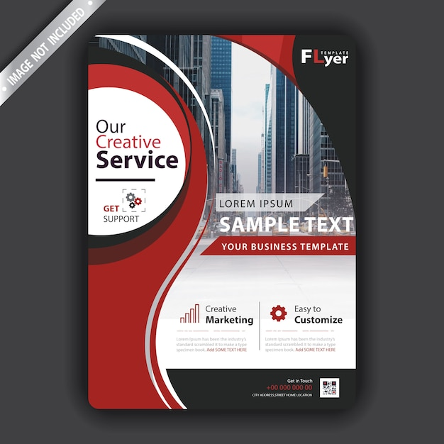 Red flyer Free Vector