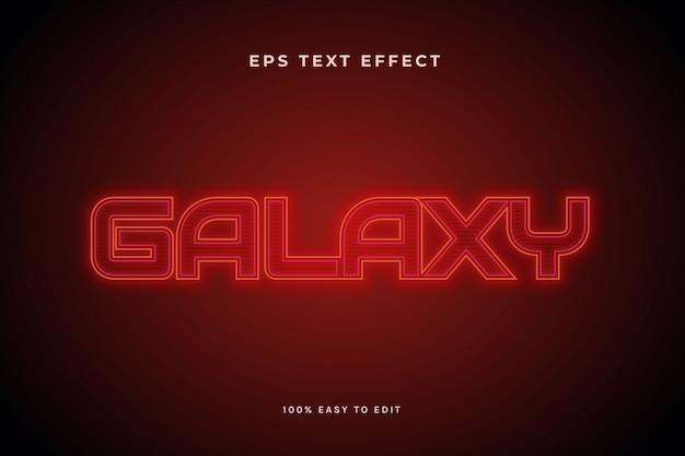 Красная галактика текстовый эффект Premium векторы