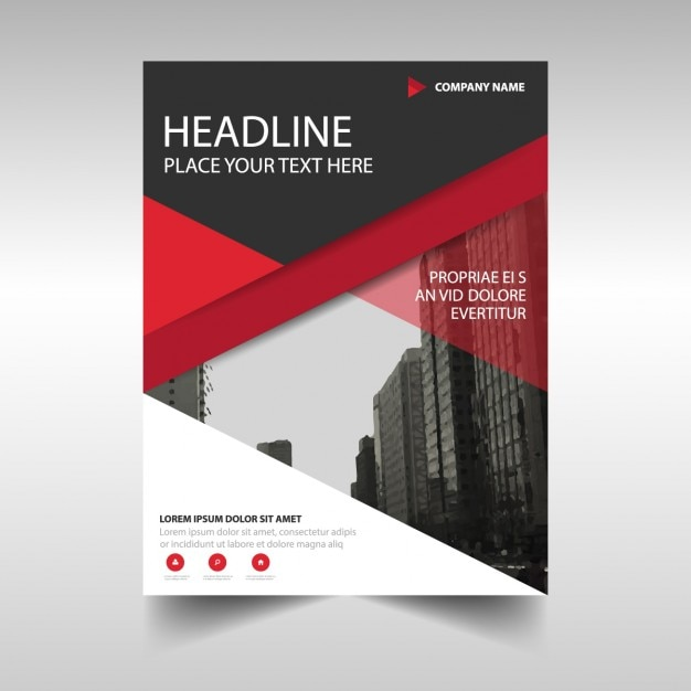 Red Geometric Corporate Brochure Template Vector  Free Download