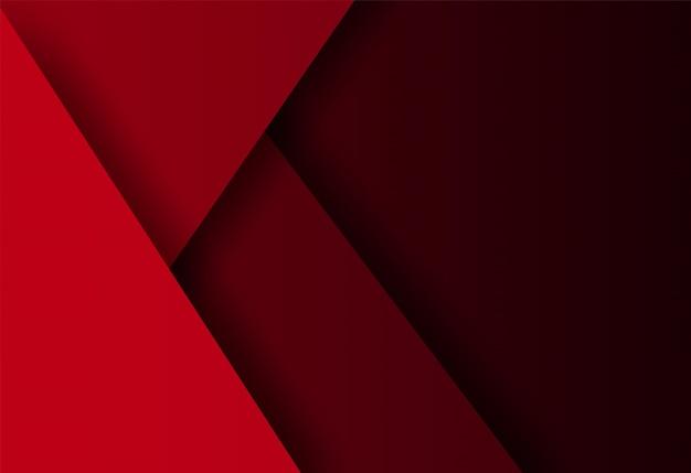 Red geometric shape overlap background Premium Vector