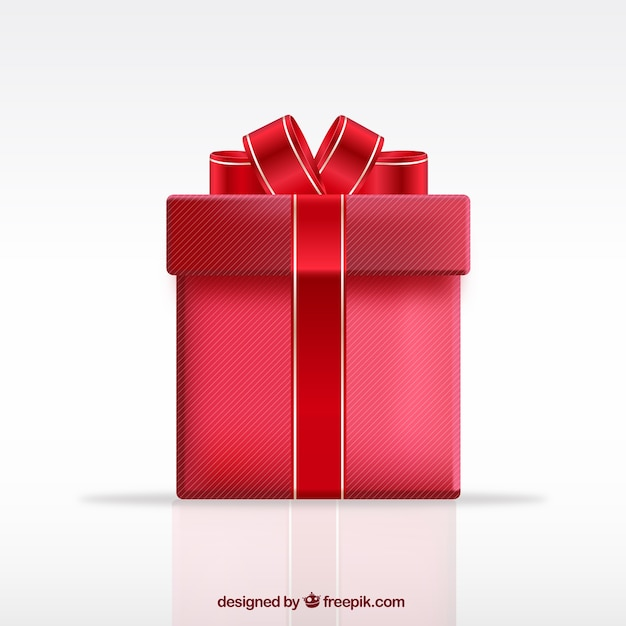 red gift box vector free download
