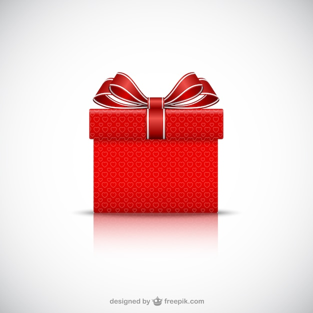 Red gift box vector free download red gift box free vector negle Choice Image